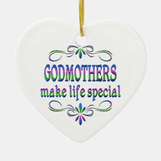 Godmothers Make Life Special Ceramic Heart Decoration