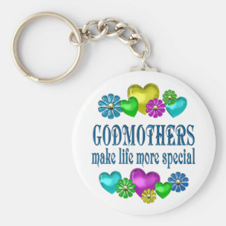 Godmothers More Special Basic Round Button Key Ring