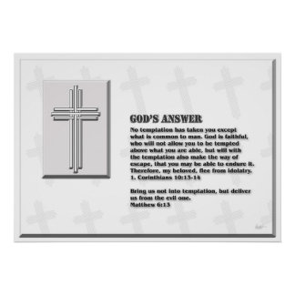 God's answer to temptations posters