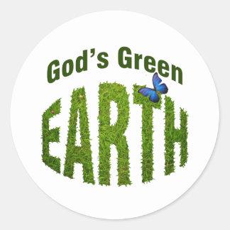 God's Green Earth Classic Round Sticker