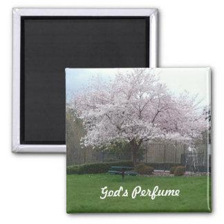 God's perfume square magnet