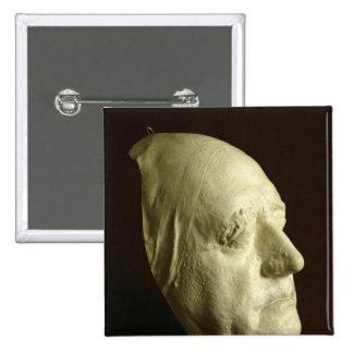 Goethe's Mask, 1807 15 Cm Square Badge