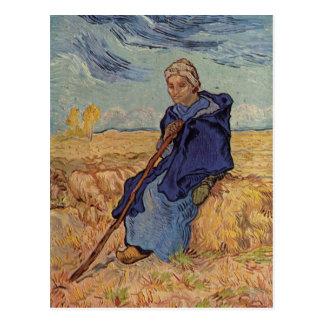 Gogh, Vincent Willem van Die Hirtin 1889 Technique Postcard
