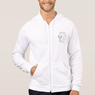 GOHORSE WINTER WHITE MAX DEFAULT WITH ZIPPER HOODIE