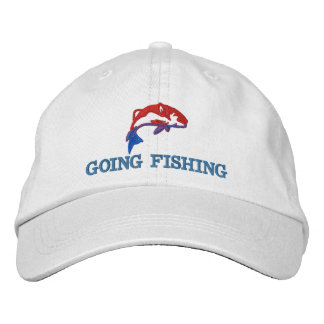 Going fishing fishermans embroidered hat