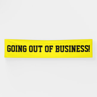 Going out of business simple black banner sign