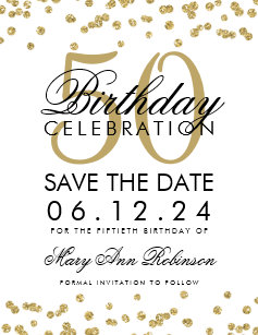 50th Birthday Save The Date Cards Zazzle Nz