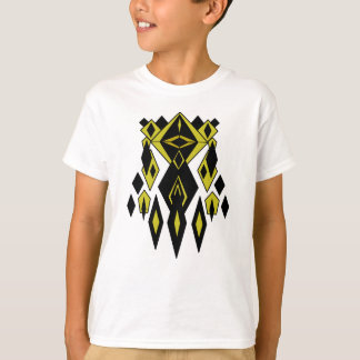 Gold Alien Robot Graphics T-Shirt
