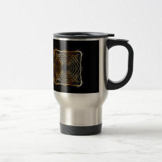 Gold ancient vintage ornament travel mug