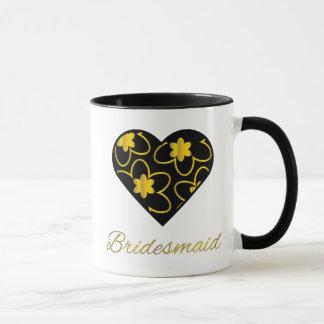 Gold and Black Bridesmaid Coffee Mug