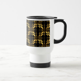 Gold and Black Design on Classic Travel Mug