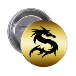 GOLD AND BLACK DRAGON BUTTONS