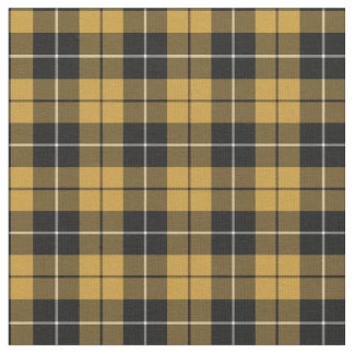 Gold and Black Sporty Plaid Fabric