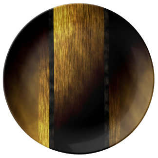 Gold and Black Textured Plate