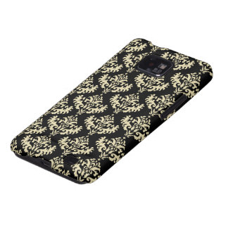 Gold and Black Victorian Damask Pattern Samsung Galaxy S2 Case