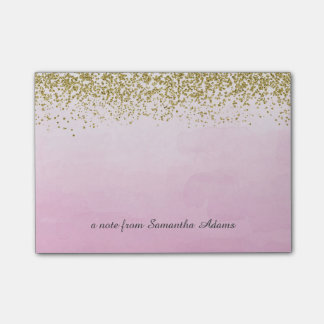 Gold and Ombre Pink Notes
