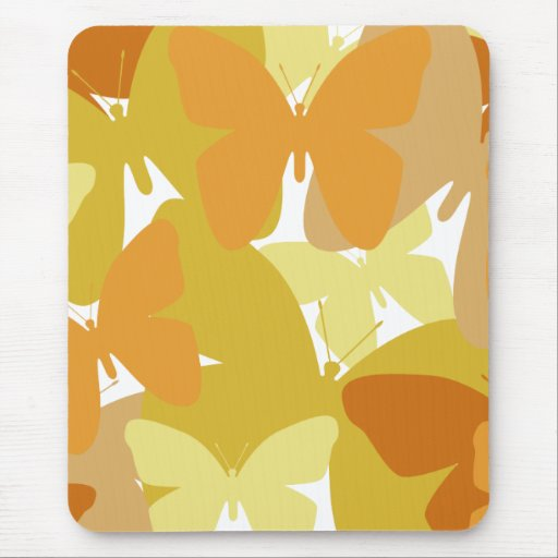 Gold and orange butterflies Mousepad