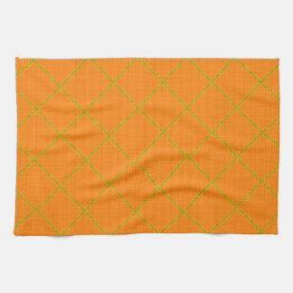 Gold and Orange Kitchen Towel