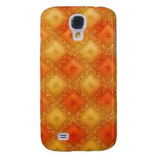 Gold and Orange Quilted Pern Samsung Galaxy S4 Cover