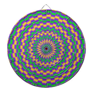 Gold and Turquoise Links Dartboard