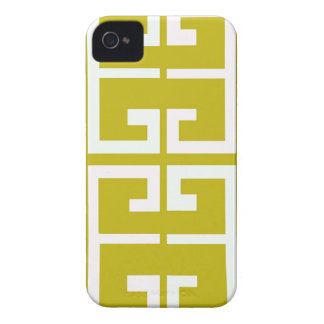 Gold and White Spanish Tile iPhone 4 Case-Mate Cases