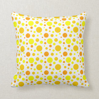 Gold and Yellow Polka Dots Pillow