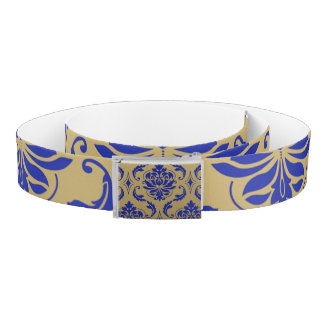 Gold and Zaffre Blue Classic Damask Belt