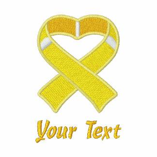 Gold Awareness Ribbon Shirt Embroidered Shirts
