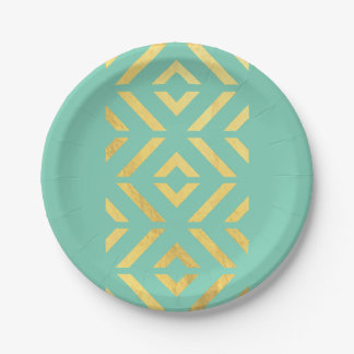 Gold Aztec Paper Plate