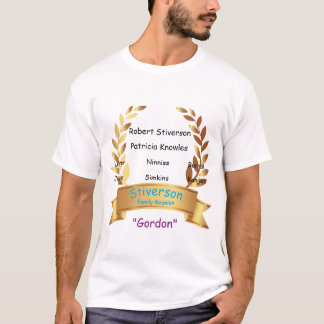 Gold Banner Family Reunion Clan Gathering Custom T-Shirt