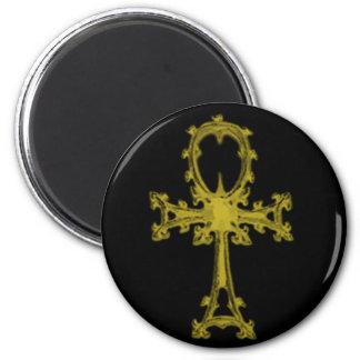 Gold/Black Ankh Magnet