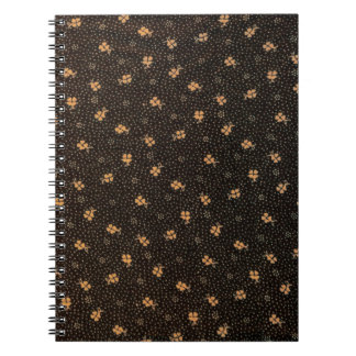 Gold Black Clover Pattern Photo Notebook