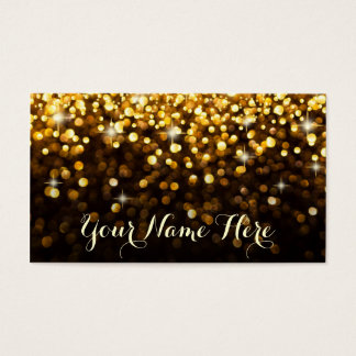 Gold Black Hollywood Glitz Glam Place Card