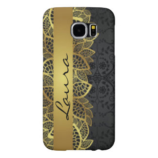 Gold Black Lace Typography Patern Design