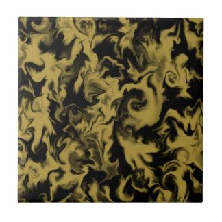 Gold & Black mixed color tile