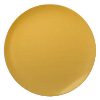 Gold Blank TEMPLATE : Add text, image, fill color Dinner Plate