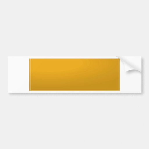 Gold Blank TEMPLATE : Add text, image, fill color Bumper Stickers