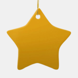 Gold Blank TEMPLATE Add text image fill color Christmas Tree Ornament