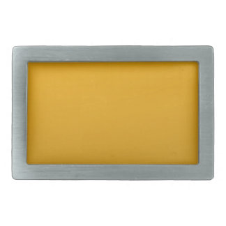 Gold Blank TEMPLATE : Add text, image, fill color Rectangular Belt Buckle