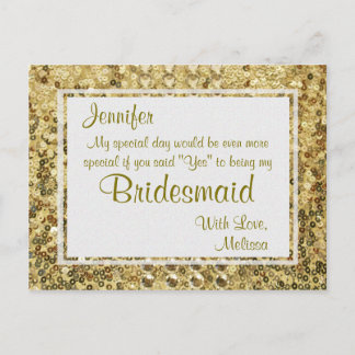 Gold Bling | Will You Be My Bridesmaid?