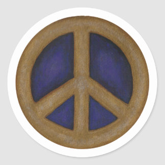 gold blue peace sign stickers