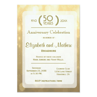 Gold Bokeh | 50th Anniversary