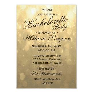 Gold Bokeh   Bachelorette Party Card