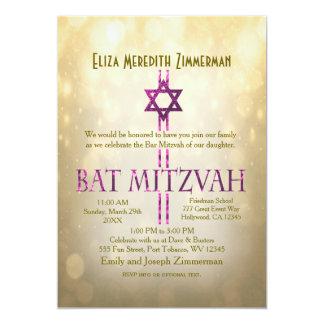 Gold Bokeh | Bat Mitzvah Card