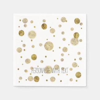 Gold Bokeh Confetti Dots Paper Napkins