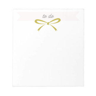 "Gold Bow ""To Do"" Notepad"