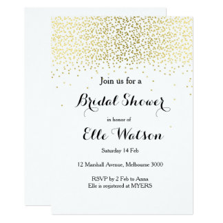 Gold Bridal Shower Invitation