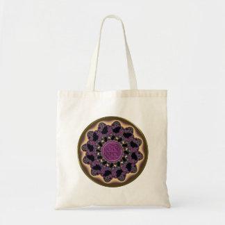 Gold Bronze Purple Celtic Mandala Tote Bag