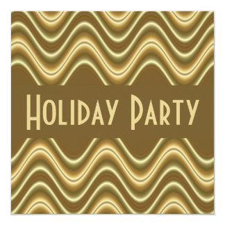 gold brown Holiday Party Card