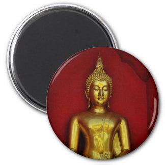 Gold Buddha Round Magnet
